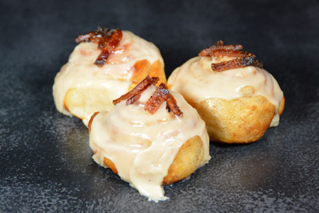 Maple Bacon<br />Cinnamon Rolls